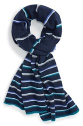 Halogen Wool And Cashmere Scarf Blue