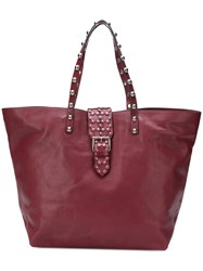 Red Valentino Studded Oversized Tote Red