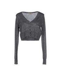 Betty Blue Knitwear Wrap Cardigans Women Grey