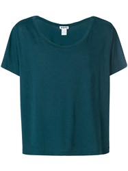 Hope Round Neck Loose Fit T Shirt Green