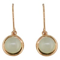 London Road 9Ct Rose Gold Pimlico Bubble Drop Earrings Moonstone