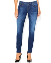 Guess Mid Rise Power Curvy Skinny Jeans Reller Wash