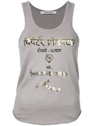 Theatre Products Metallic Lettering Print Tank Grey