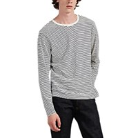 Alex Mill Striped Cotton Long Sleeve T Shirt Ivorybone
