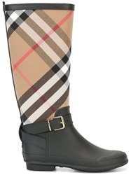 Burberry House Check Boots Black