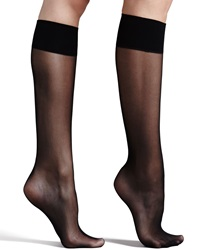 Commando Premier Sheer Basic Knee High Socks Black Black One Size