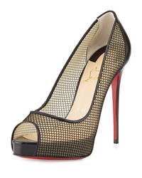 Christian Louboutin Very Rete 120Mm Red Sole Pump Black Women's Size 35.0B 5.0B