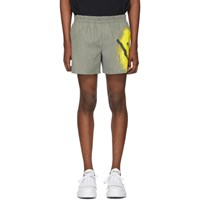 Alexander Wang Black And White Spray Paint Shorts