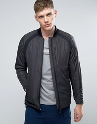 Jack And Jones Tech Bomber Jacket With Padding Black