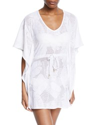 Letarte Palm Lace Coverup Caftan White
