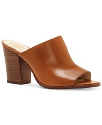 Vince Camuto Anabi Peep Toe Mules Women's Shoes Whiskey