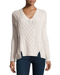 Xcvi Calypso Cable Knit Sweater Turtle Dove