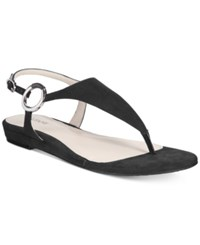 Alfani Women's Honnee Flat Sandals Only At Macy's Women's Shoes Black