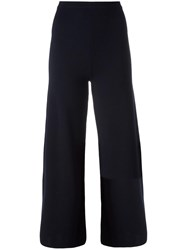 Cedric Charlier Flared Cropped Trousers Blue