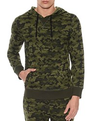 2Xist 2 X Ist Camouflage Terry Pullover Hoodie Lounge Sweatshirt Olive Camo