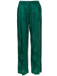 Magda Butrym Pleated High Waisted Trousers Green
