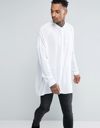 Asos Oversized Shirt With Dropped Shoulder In White White
