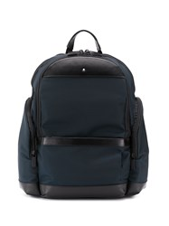 Montblanc Mixed Fabric Backpack Blue