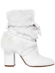 Alexandre Birman 85Mm Lora Leather And Lapin Ankle Boots