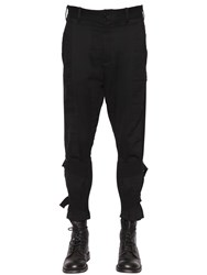 Ann Demeulemeester Cotton Blend Gabardine Pants With Straps