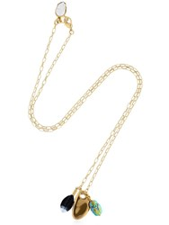 Isabel Marant Chain Necklace With Charms Gold
