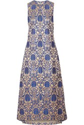 Alice Olivia Persephone Metallic Brocade Vest Royal Blue