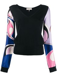 Emilio Pucci Contrast Printed Sleeves Top 60