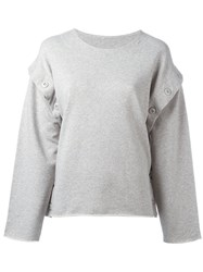 Maison Martin Margiela Mm6 Detachable Sleeves Sweatshirt Grey