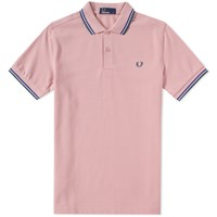 Fred Perry Slim Fit Twin Tipped Polo Pink