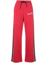 Adaptation Side Stripe Track Pants Red