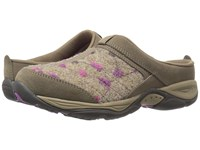 Easy Spirit Ez Time Dark Taupe Light Brown Suede Women's Clog Shoes