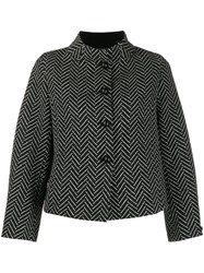 Emporio Armani Chevron Jacket Black