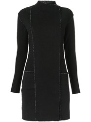 Uma Raquel Davidowicz Panelled Coat Women Wool Cotton 38 Black