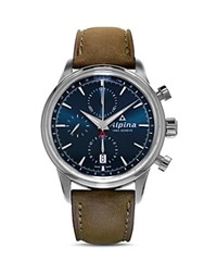 Alpina Alpiner Automatic Chronograph 41.5Mm Navy Brown