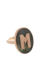 Carolina Bucci M' Initial Ring R Gold