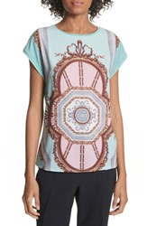 Ted Baker London Versailles Woven Front Tee Teal