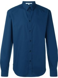 Carven Curved Hem Shirt Blue