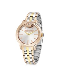 Just Cavalli Spire Tri Tone Women's Watch Gold