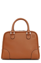 Loewe 'Small Amazona 75' Leather Satchel Tan
