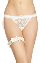 Women's Hanky Panky Bridal Veiled Thong Light Ivory
