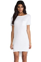 Alexander Wang Classic Boatneck Dress With Pocket White