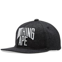 A Bathing Ape Nyc Logo Denim Snapback Cap Black