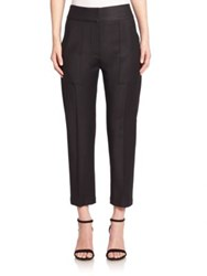 Adam By Adam Lippes Cropped Wool Blend Pants Black