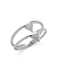 Casa Reale Diamond And 14K White Gold Double Triangle Ring