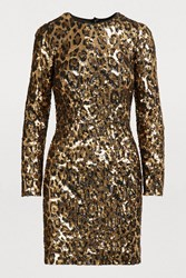 Dolce And Gabbana Short Sequined Dress Sequins Leo