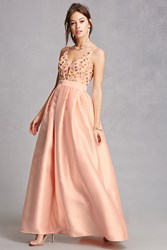 Forever 21 Soieblu Embroidered Gown Blush