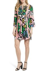Kas 'S New York Ancona Mod Print Shift Dress Mod Pink Print