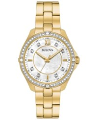 Bulova Women's Gold Tone Stainless Steel Bracelet Watch 35Mm 98L230 A Macy's Exclusive Style