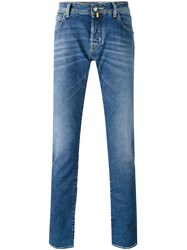 Jacob Cohen Denim Straight Leg Jeans Men Cotton Spandex Elastane 34 Blue