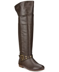 Dolce By Mojo Moxy Duffy Tall Boots Women's Shoes Brown